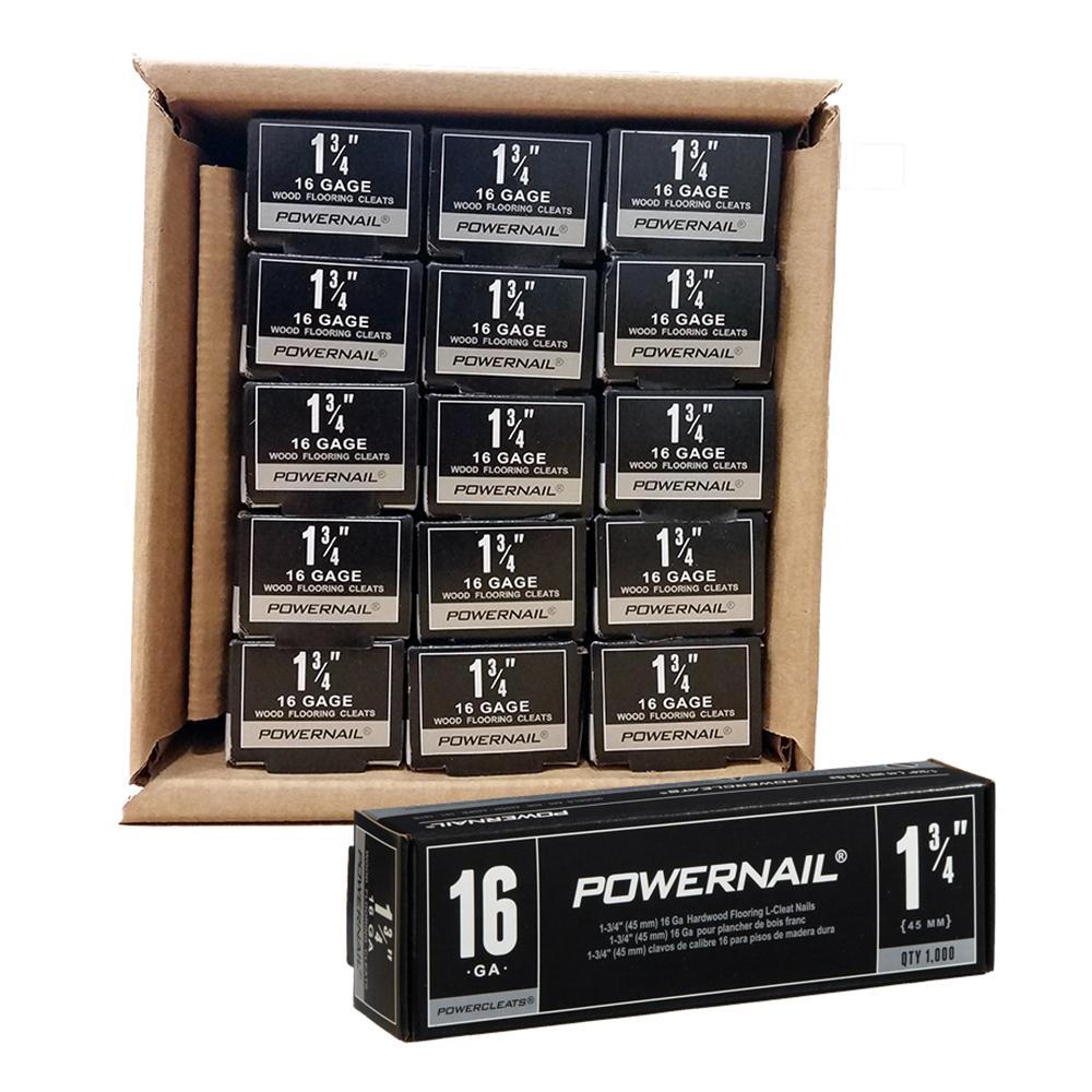 Powercleats 1-3/4 in. 16-Gauge Hardwood Flooring Nails 15 Boxes of 1,000