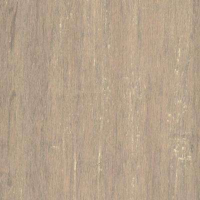 Take Home Sample - Hand Scraped Strand Woven Poppyseed Engineered Click Bamboo Flooring - 5 in. x 7 in.
