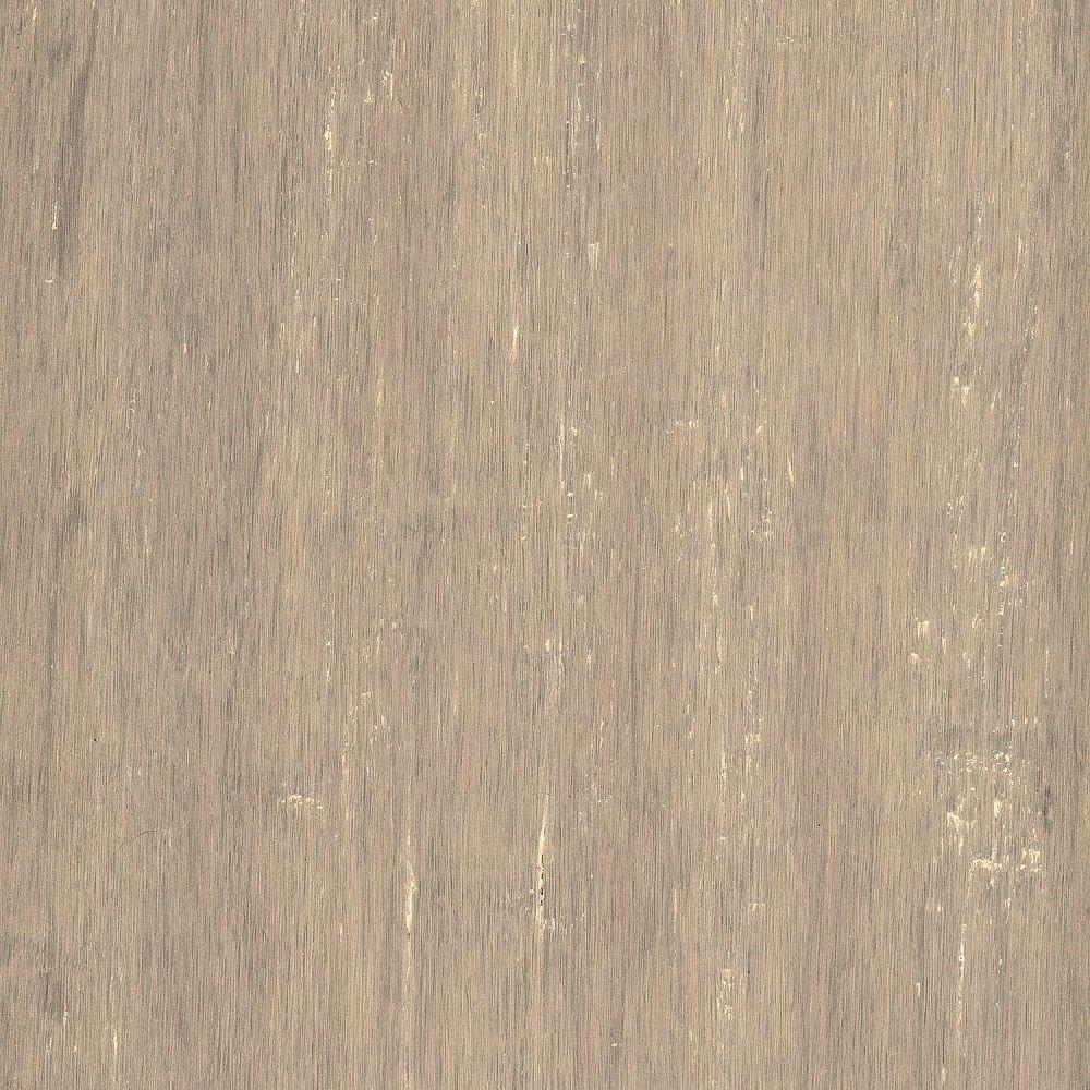 Home Legend Take Home Sample - Hand Scraped Strand Woven Poppyseed Engineered Click Bamboo Flooring - 5 in. x 7 in.