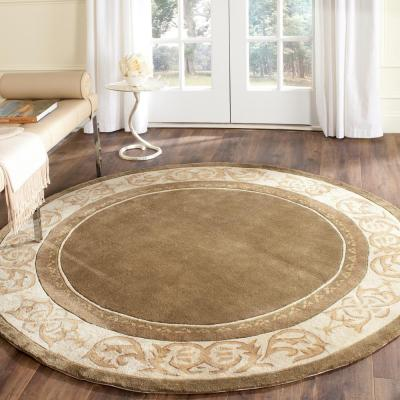 Total Performance Olive/Ivory 6 ft. x 6 ft. Round Area Rug