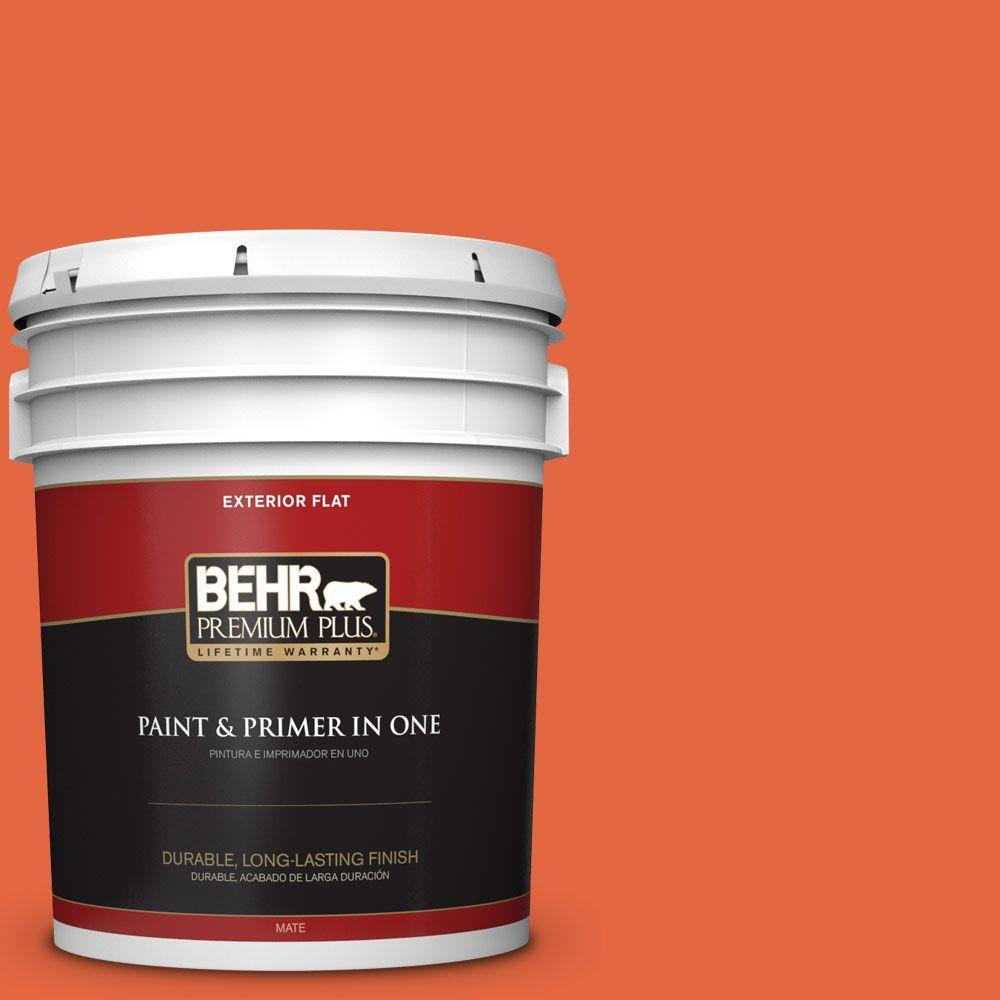 BEHR Premium Plus 5-gal. #P190-6 Emergency Zone Flat Exterior Paint