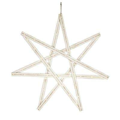36 in. Wood Star with Lights