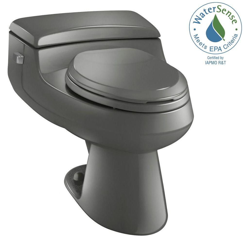 San Raphael Comfort Height 1-piece 1 GPF Single Flush Elongated Toilet in Thunder Grey