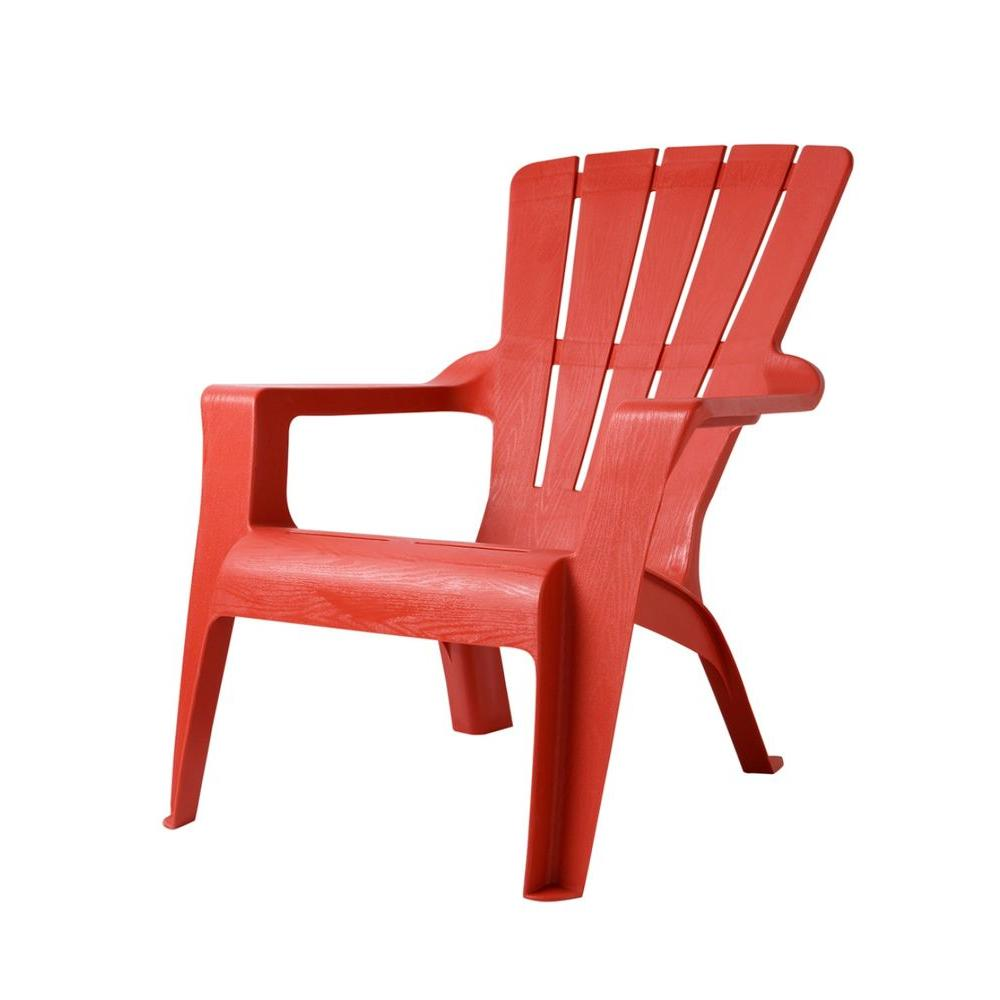 Porch furniture home depot Sofa Chili Patio Adirondack Chair The Home Depot Unbranded Chili Patio Adirondack Chair167073 The Home Depot
