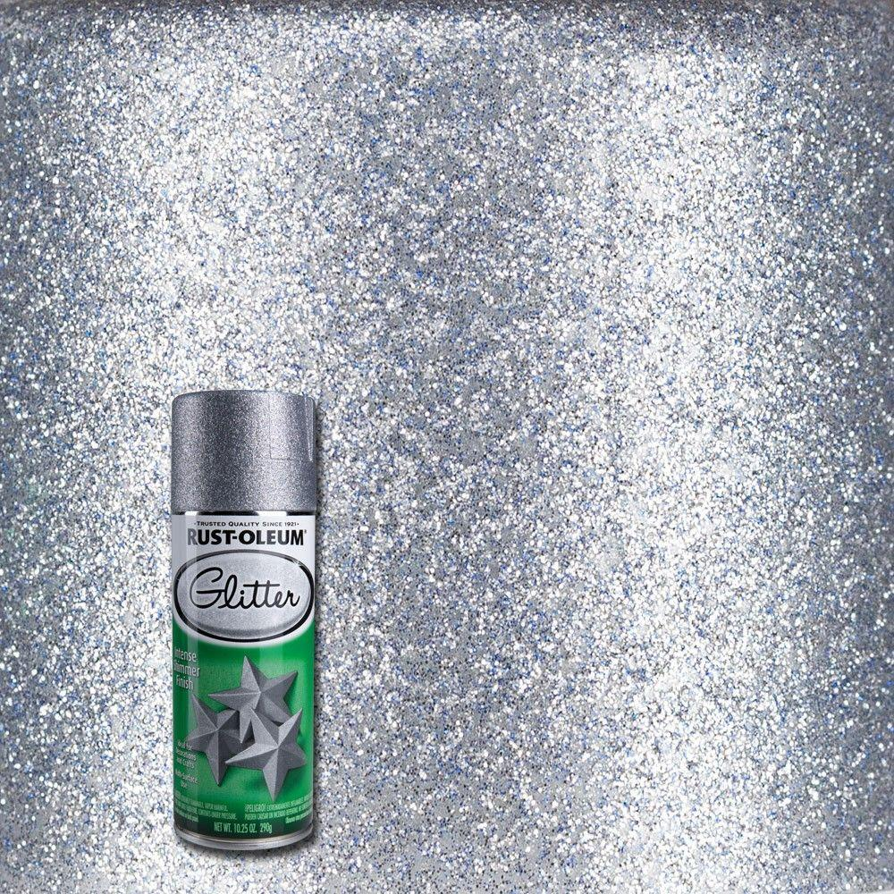 Rust oleum specialty oz silver glitter spray paint for How to make metallic paint
