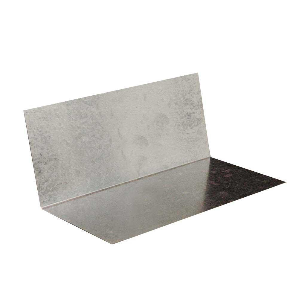 Gibraltar Building Products 4 in  4 in  x 8 in  Galvanized Steel Step  Flashing