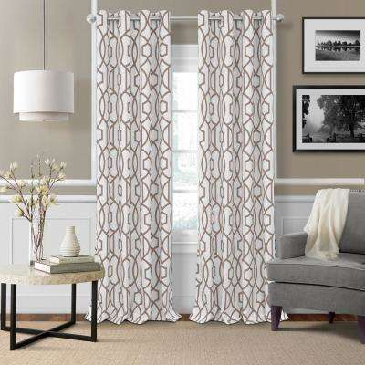 Celeste 52 in. W x 95 in. L Polyester Single Blackout Window Curtain Panel in Taupe