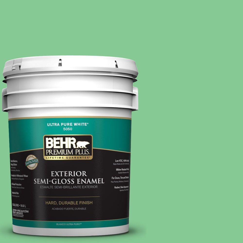 5-gal. #P400-4 Good Luck Semi-Gloss Enamel Exterior Paint