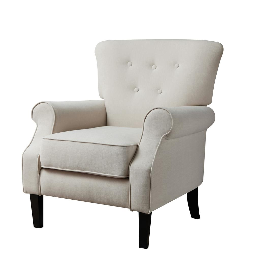 cream upholstered chair cream beige upholstery arm chair ac18800w the home depot 13626 | cream beige accent chairs ac18800w 64 1000