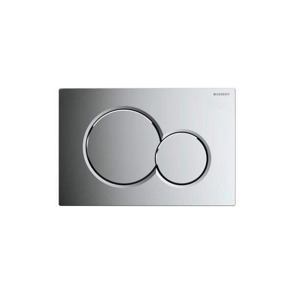 Dual-Flush Actuator Plate for Sigma Series In-Wall toilet System in Polished Chrome