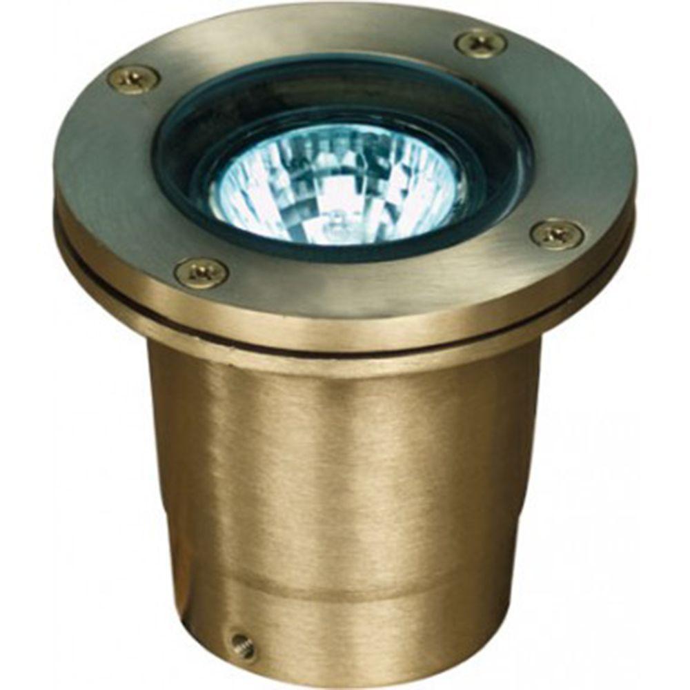 Brantley 1-Light Weathered Brass Outdoor In-Ground Well Light