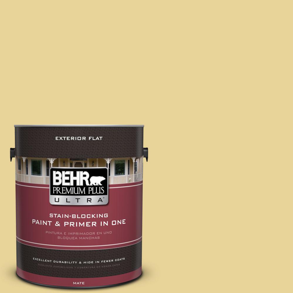 1-gal. #390D-4 Honey Beige Flat Exterior Paint
