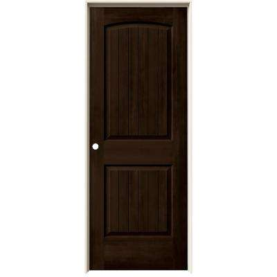 24 in. x 80 in. Santa Fe Espresso Stain Right-Hand Solid Core Molded Composite MDF Single Prehung Interior Door
