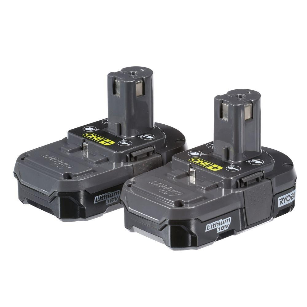 ryobi 18 volt one lithium ion compact battery pack 1 3ah. Black Bedroom Furniture Sets. Home Design Ideas