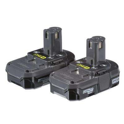 18-Volt ONE+ Lithium-Ion Compact Battery Pack 1.3Ah (2-Pack)