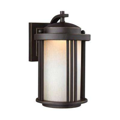 Crowell 1-Light Antique Bronze Wall Lantern