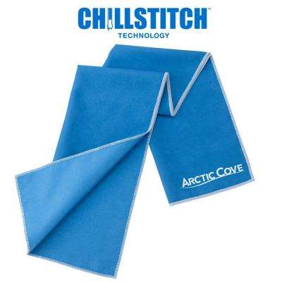 12 in. x 33 in. Large Cooling Towel Blue