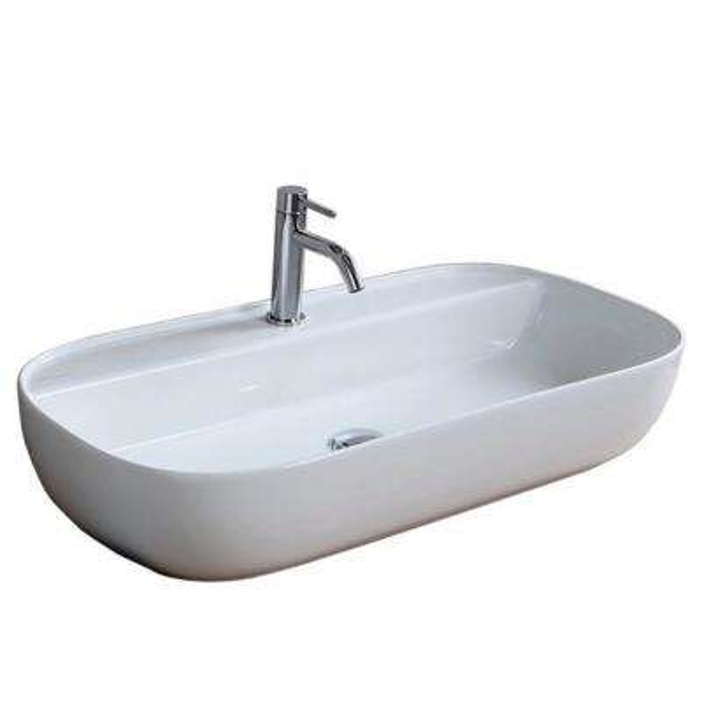 Glam Vessel Sink in White