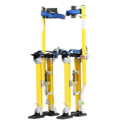 18 in. to 30 in. Yellow Mag Pros Magnesium Drywall Stilts
