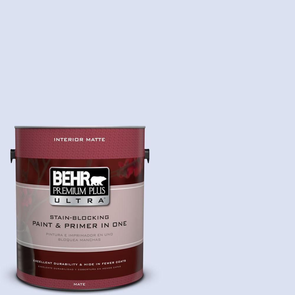1 gal. #P540-1 Vaguely Violet Matte Interior Paint