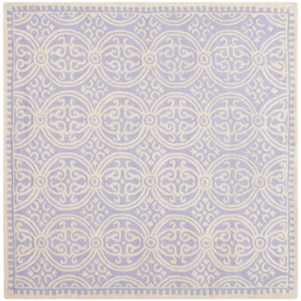 Cambridge Lavender/Ivory 6 ft. x 6 ft. Square Area Rug