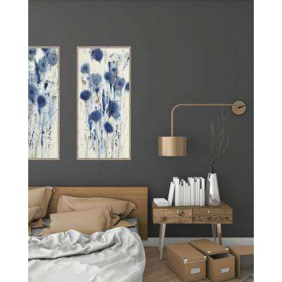 28.5 in. x 16.5 in. 'Blue Impressions I' by Tim O'Toole Textured Paper Print Framed Wall Art