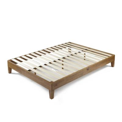 12 in. Alexis Pine with Easy Assembly Full Deluxe Wood Platform Bed