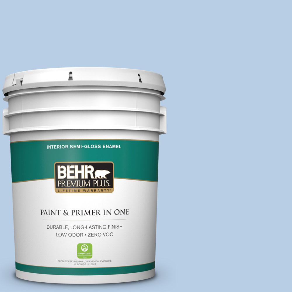 5-gal. #570C-3 Tender Twilight Zero VOC Semi-Gloss Enamel Interior Paint