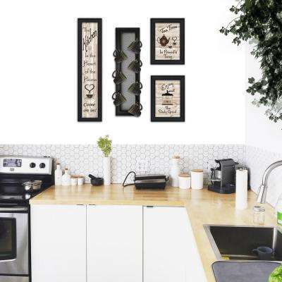 Kitchen Collection V 4-Piece Vignette with 7-Peg Mug Rack Decorative Sign