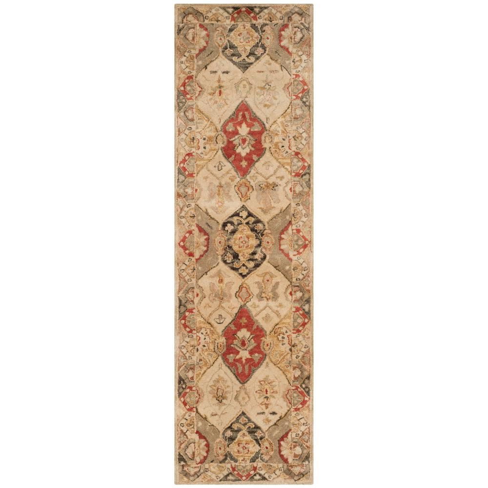 Antiquity Beige/Multi 2 ft. 3 in. x 8 ft. Runner