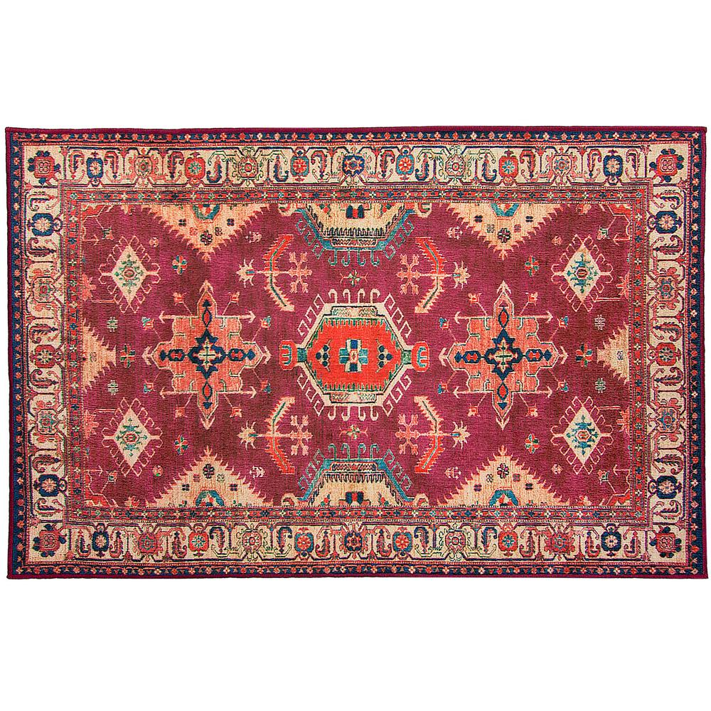 Ruggable Washable Noor Ruby 3 Ft X 5 Stain Resistant Accent Rug