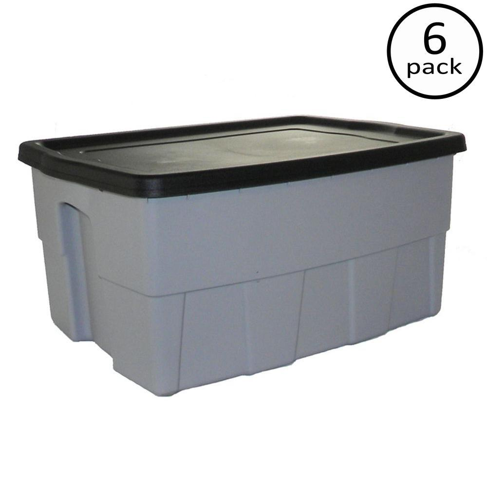 12-Gal. Dura Box Storage Tote (6-Pack)