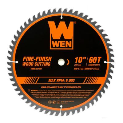 10 in. 60-Tooth Fine-Finish Professional Woodworking Saw Blade for Miter Saws and Table Saws