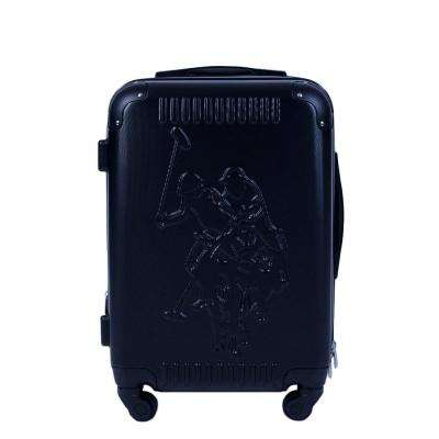 U.S Polo Assn. 21 in. Black Hard Case Spinner Rolling Suitcase