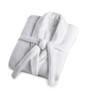 Vera Wang Vw 1-piece Solid White Medium/large Cotton Bath Robe Deals