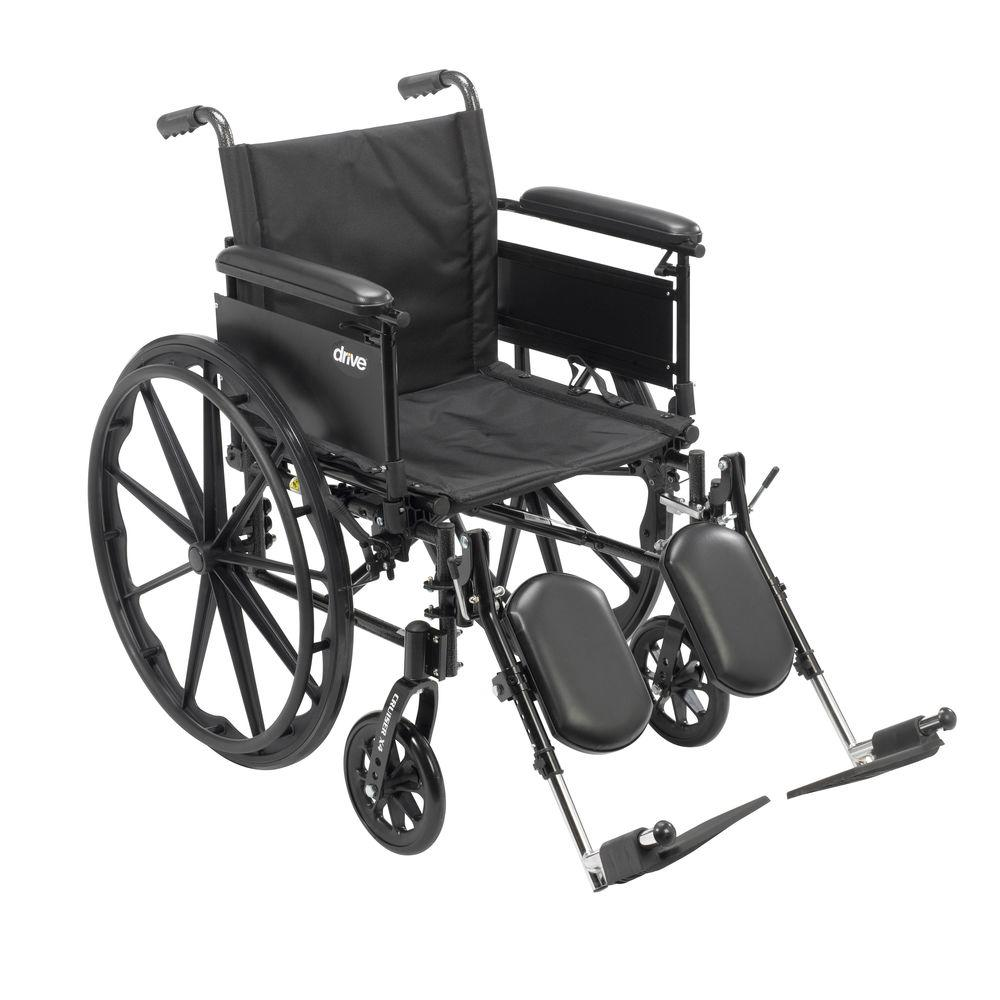 Drive Cruiser X4 Lightweight Dual Axle Wheelchair with Ad...