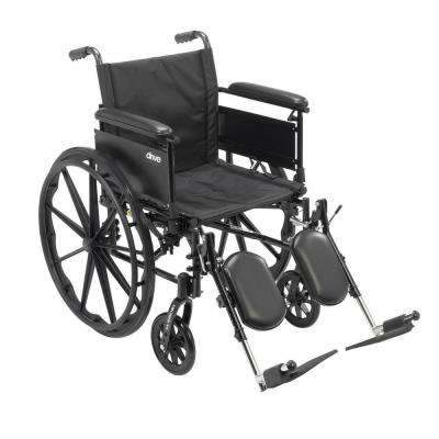 Cruiser X4 Lightweight Dual Axle Wheelchair with Adjustable Detachable Arms, Full Arms and Elevating Leg Rests