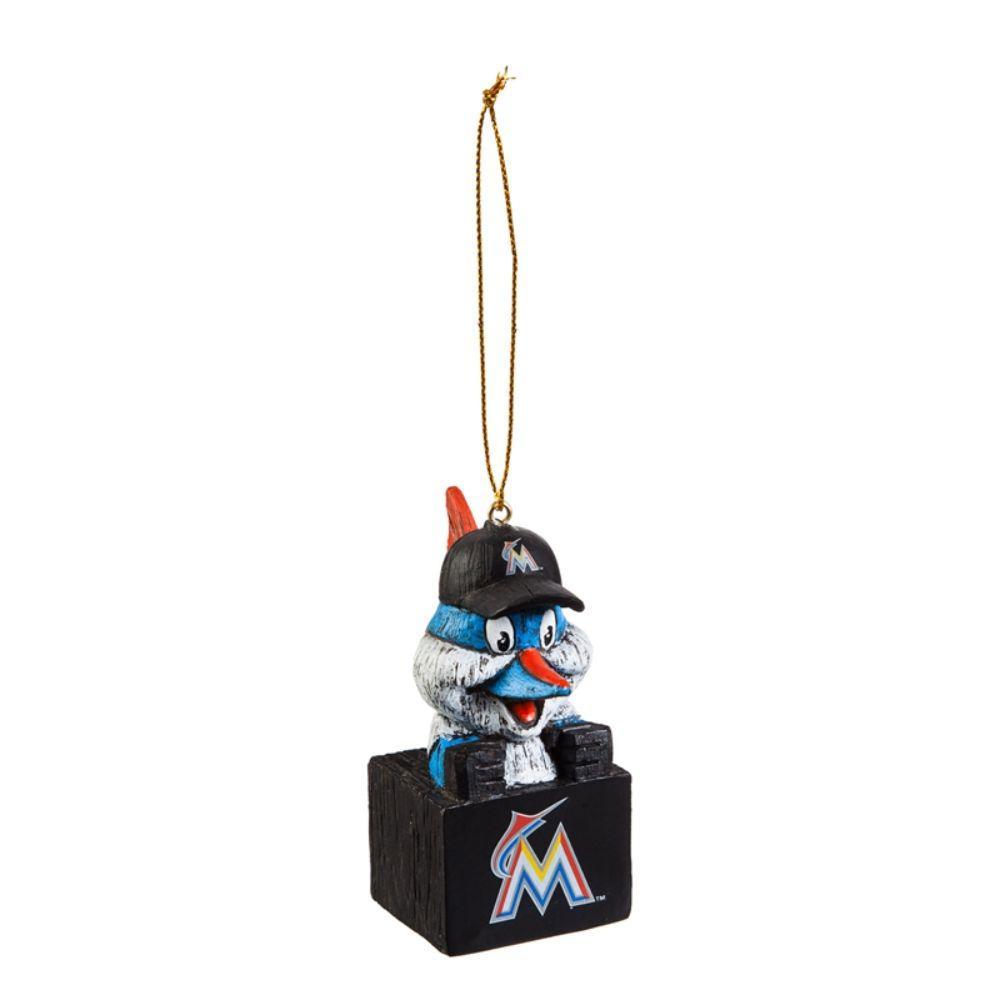 Miami Marlins 1-1/2 in. MLB Mascot Tiki Totem Christmas Ornament