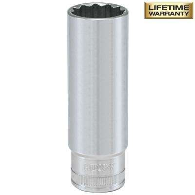 1/2 in. Drive 18 mm 12-Point Metric Deep Socket