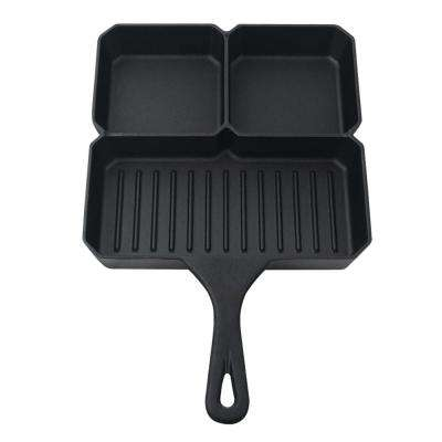 Cast Iron 3 Compartment Square Pan