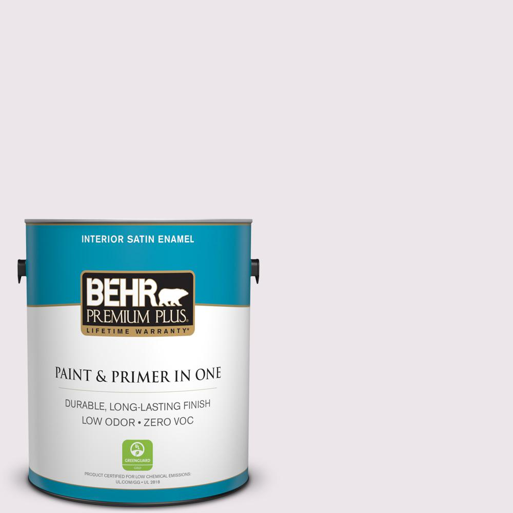 BEHR Premium Plus 1-gal. #670C-1 November Pink Zero VOC Satin Enamel Interior Paint