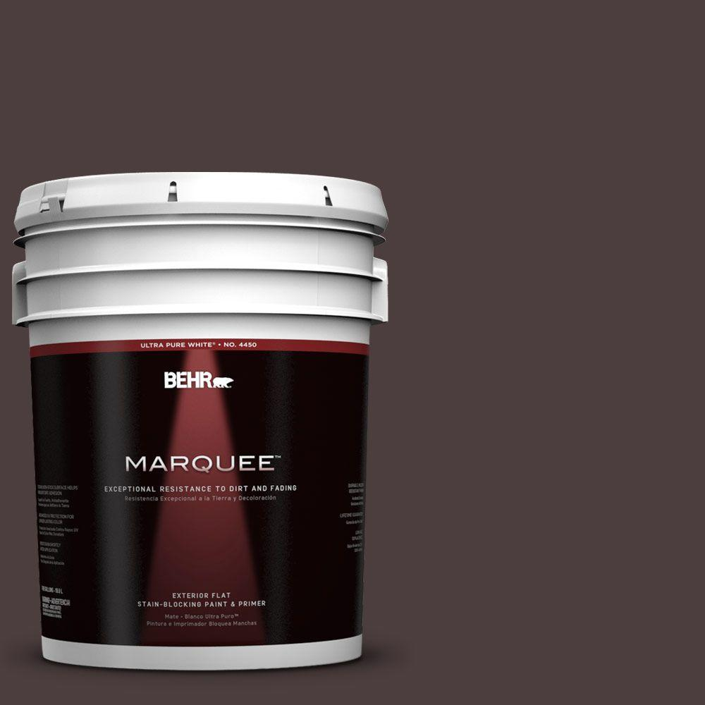 5-gal. #UL110-23 Polished Leather Flat Exterior Paint