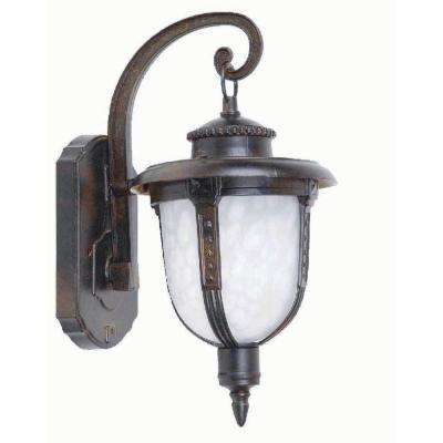Brina Collection 1 Light Brown Outdoor Wall Mount Lamp