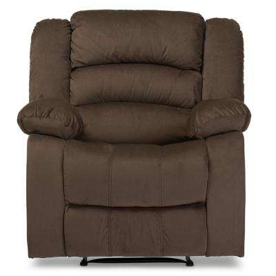 Hollace Taupe Fabric Upholstered Recliner