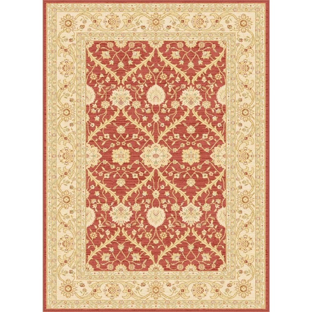 Tayse Rugs Antique Treasure Red 5 ft. 3 in. x 7 ft. 3 in. Indoor Area Rug