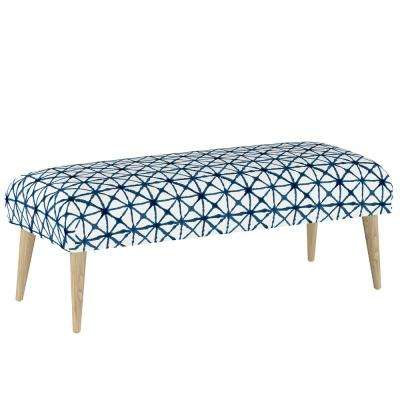 Watercolor Cross Indigo Bench