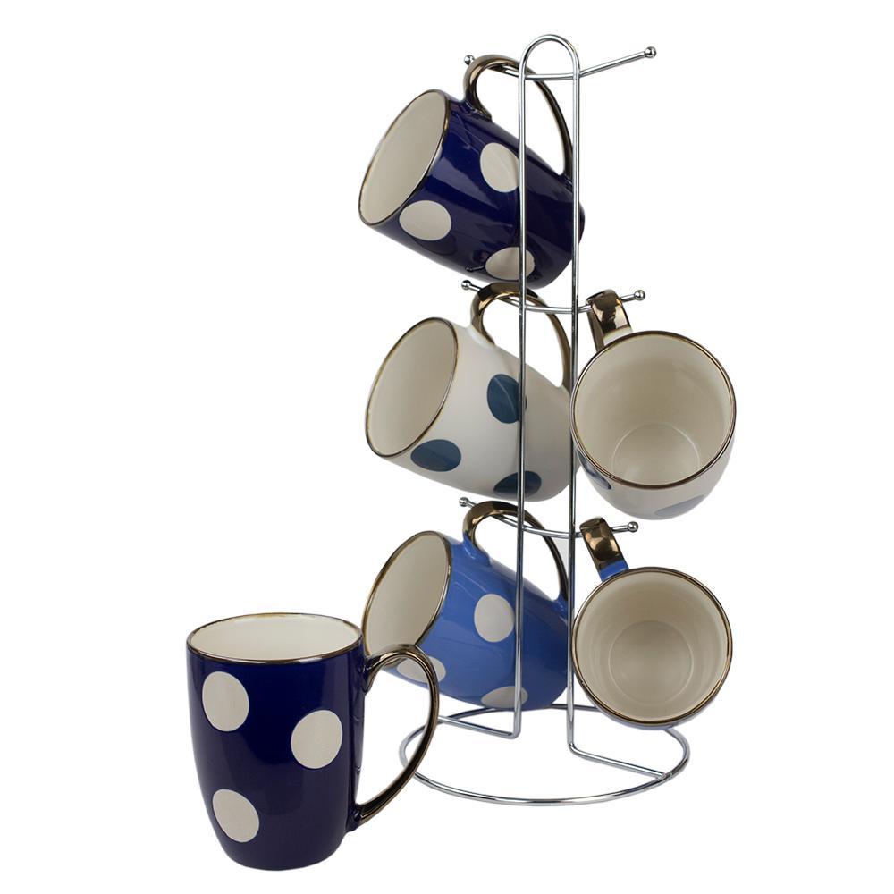 Polka Dot 6-Piece Mug Set