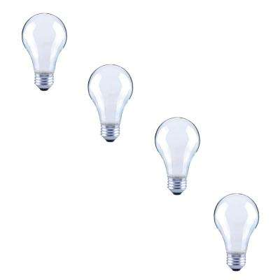 60-Watt Equivalent A19 Dimmable Energy Star Frosted Filament LED Light Bulb Bright White (4-Pack)