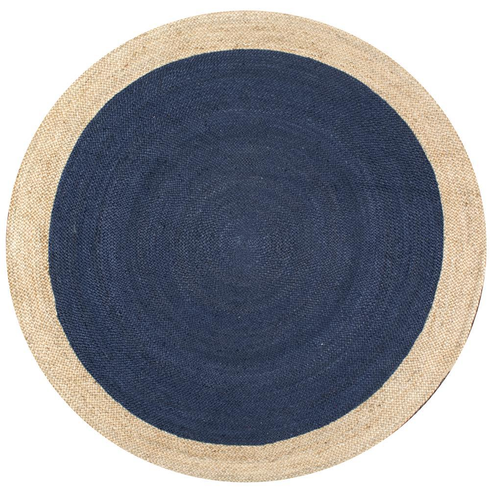 nuloom eleonora blue 4 ft x 4 ft round area rug tajt09b 404r the home depot. Black Bedroom Furniture Sets. Home Design Ideas