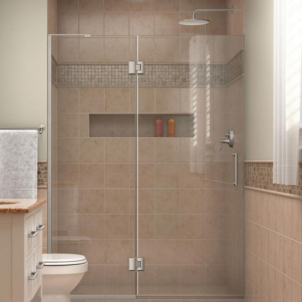 Dreamline Unidoor X 48 In X 72 In Frameless Hinged